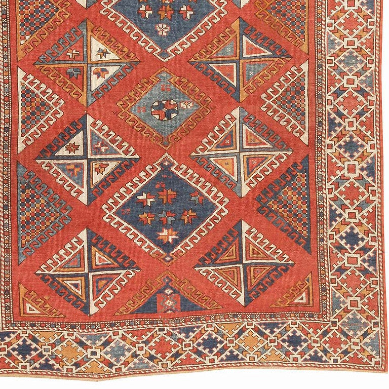 Tribal Antique Turkish Bergama Rug. Size: 5 ft 10 in x 6 ft 10 in (1.78 m x 2.08 m) For Sale