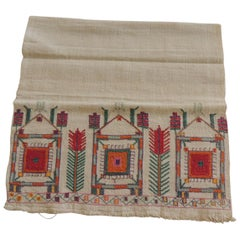 Antique Turkish Embroidered Colorful Textile