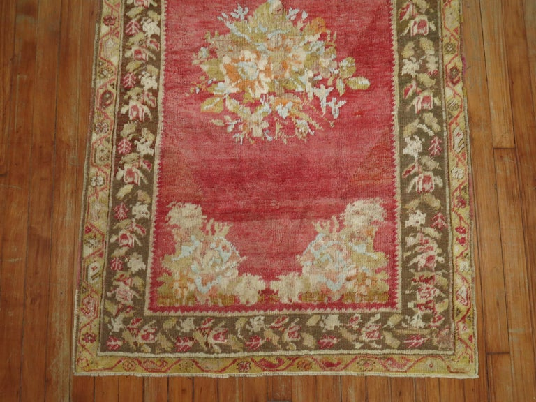 Hand-Woven Antique Turkish Ghiordes Rug For Sale