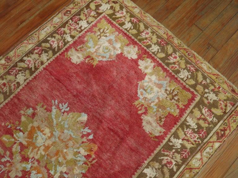 Wool Antique Turkish Ghiordes Rug For Sale
