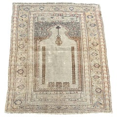 Antique Turkish Ghyordes Prayer Rug