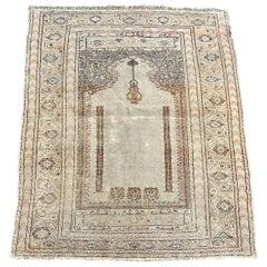 Antique Turkish Ghyordes Prayer Rug