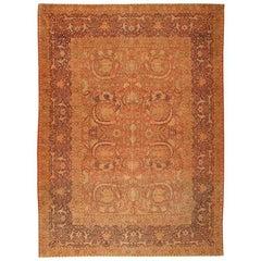 Antique Turkish Hereke Carpet. Size: 9 ft 9 in x 13 ft 1 in (2.97 m x 3.99 m)
