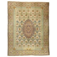 Antique Turkish Hereke Palace Rug Inspired by William Morris Arts & Crafts Style