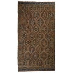 Antique Turkish Jajum Oushak rug