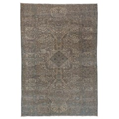 Antique Turkish Kaisary Carpet, Blue Palette