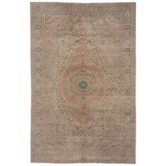 Antique Turkish Kaisary Carpet, Earth Tones
