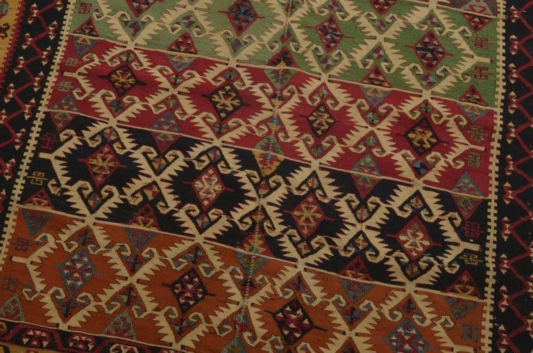 Hand-Woven Antique Turkish Kilim For Sale