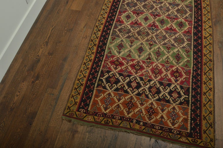 Antique Turkish Kilim In Excellent Condition For Sale In East Hampton, NY