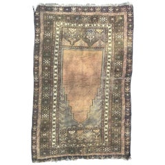 Antique Turkish Konya Prayer Rug