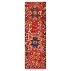 Antique Turkish Konya Runner Rug. Size: 3 ft 5 in x 10 ft 10 in