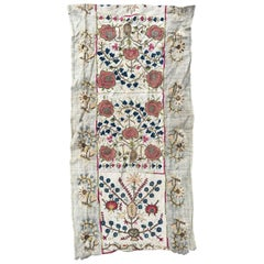 Antique Turkish Ottoman Embroidery, Anatolian Embroidered Antique Rug