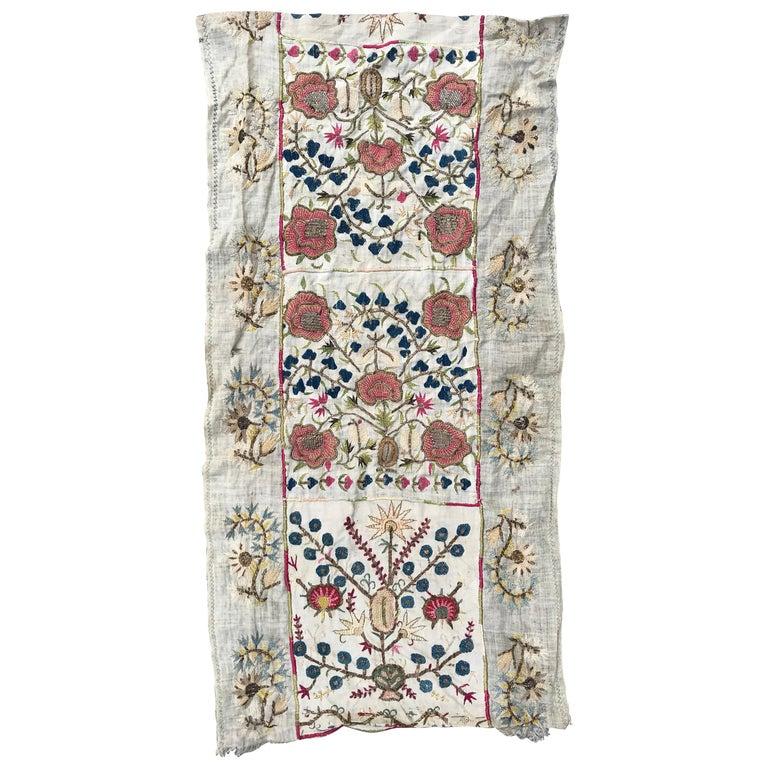 Antique Turkish Ottoman Embroidery Anatolian Embroidered
