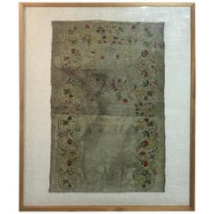 Antique Turkish Ottoman Embroidery, Embroidery Antique Rug