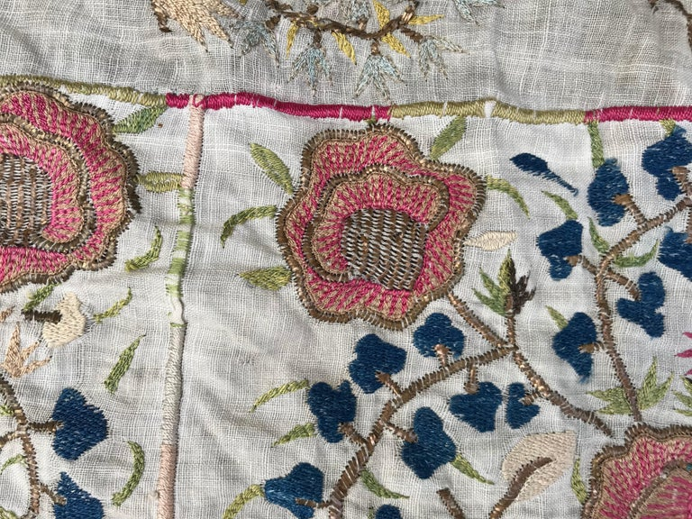 Antique Turkish Ottoman Embroidery In Good Condition For Sale In Saint Ouen, FR
