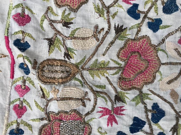 19th Century Antique Turkish Ottoman Embroidery For Sale
