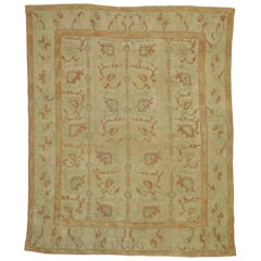 Antique Turkish Oushak Area Rug with Rustic Arts & Crafts Style