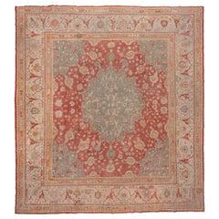 Antique Turkish Oushak Carpet, circa 1920s