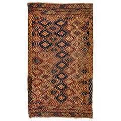 Antique Turkish Oushak Jajim Rug