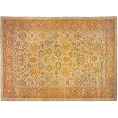 Antique Turkish Oushak Oriental Carpet, in Mansion Size, w/ Large Allover Design