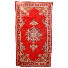 Antique Turkish Oushak Oriental Rug, circa 1920