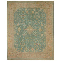 Antique Turkish Oushak Rug Carpet, circa 1890