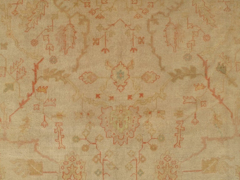 Antique Turkish Oushak Rug, circa 1890 In Good Condition For Sale In New York, NY