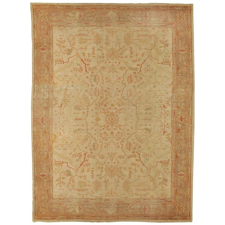 Antique Turkish Oushak Rug, circa 1890 For Sale