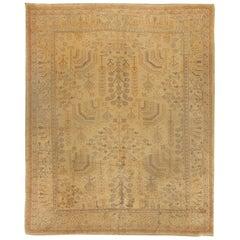 Antique Turkish Oushak Rug, circa 1910, 9' x 11'5