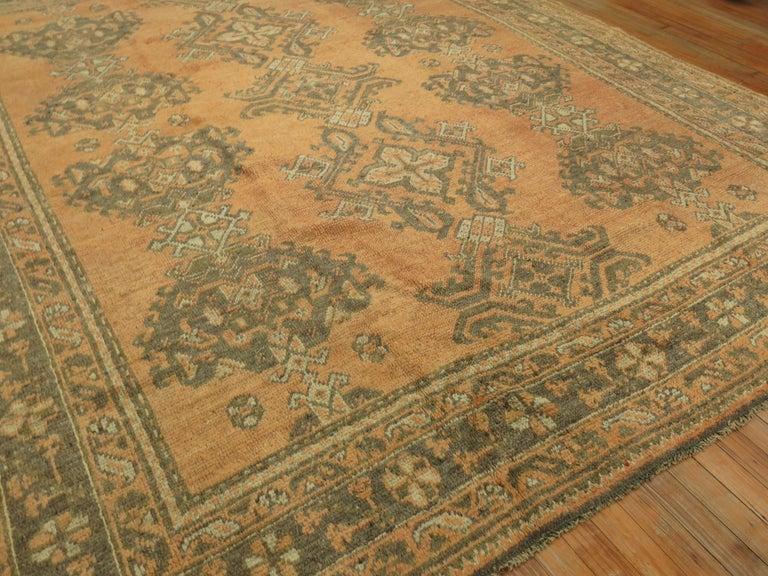 Antique Turkish Oushak Rug For Sale 3