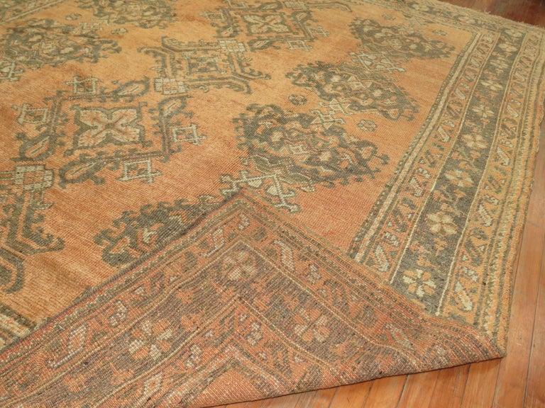Antique Turkish Oushak Rug For Sale 6