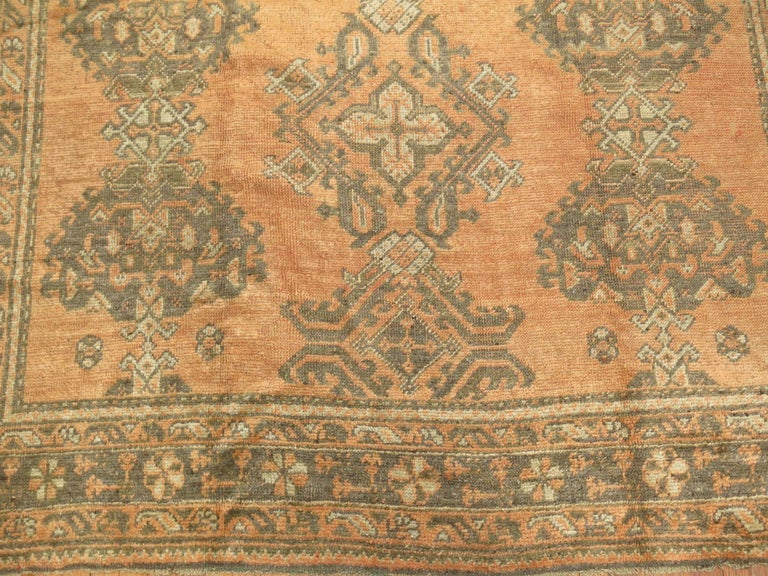 Hand-Woven Antique Turkish Oushak Rug For Sale