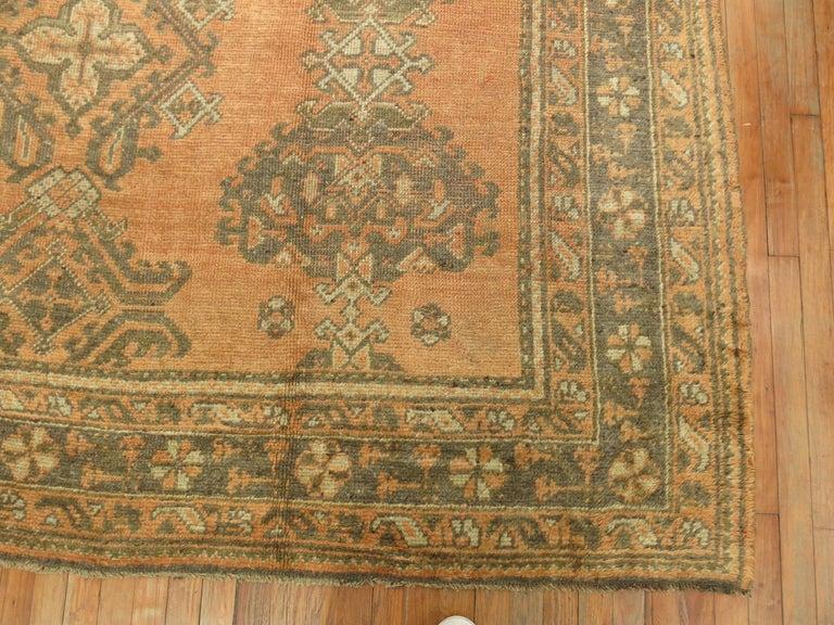 Angora Antique Turkish Oushak Rug For Sale