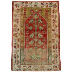 Distressed Antique Turkish Oushak Rug