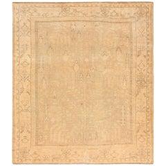 Soft Antique Decorative Turkish Oushak Rug. Size: 8 ft 6 in x 10 ft