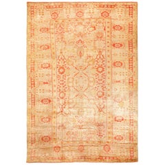 Large Antique Turkish Oushak Rug. Size: 10 ft 8 in x 16 ft 4 in