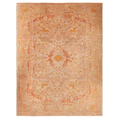 Decorative Antique Turkish Oushak Rug. Size: 8 ft 3 in x 10 ft 9 in