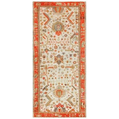 Antique Turkish Oushak Rug. Size: 8 ft 4 in x 17 ft 3 in (2.54 m x 5.26 m)