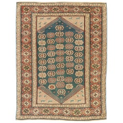 Antique Turkish Oushak Rug with American Colonial Style
