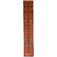 Antique Turkish Oushak Rug with Stunning Geometric Patterns, circa 1910s