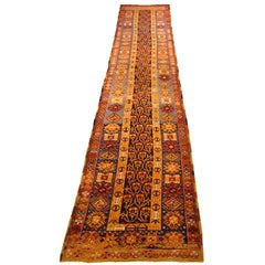 Antique Turkish Oushak Rug with Stunning Geometric Patterns, circa 1910s
