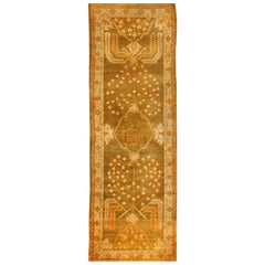 Antique Turkish Oushak Runner Carpet