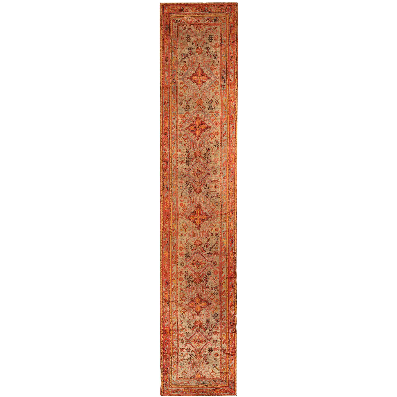 Antique Turkish Oushak Runner Rug