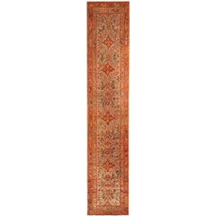 Antique Turkish Oushak Runner Rug