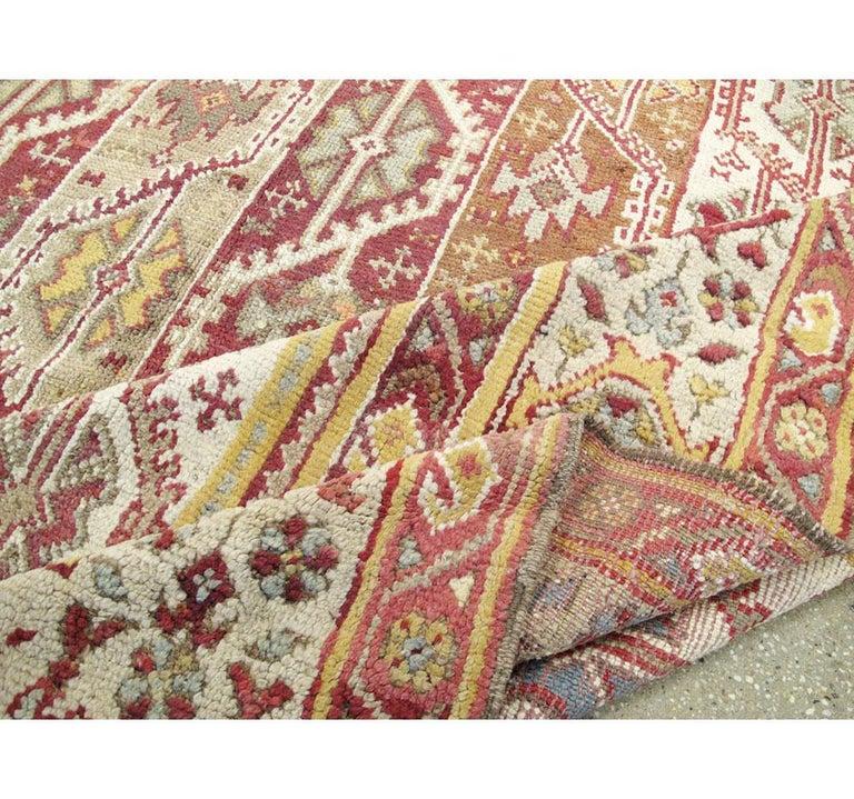 Antique Turkish Oushak Square Room Size Rug For Sale 4