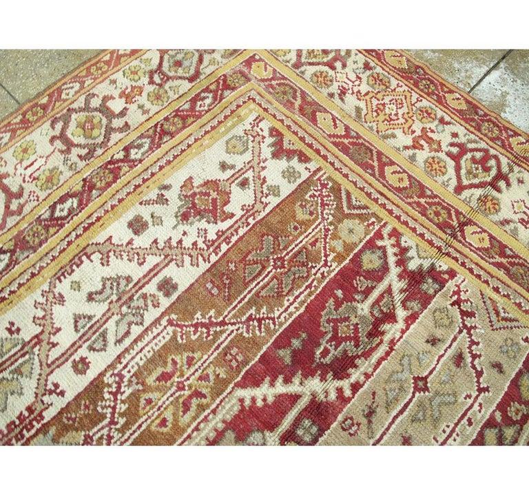 Antique Turkish Oushak Square Room Size Rug For Sale 2