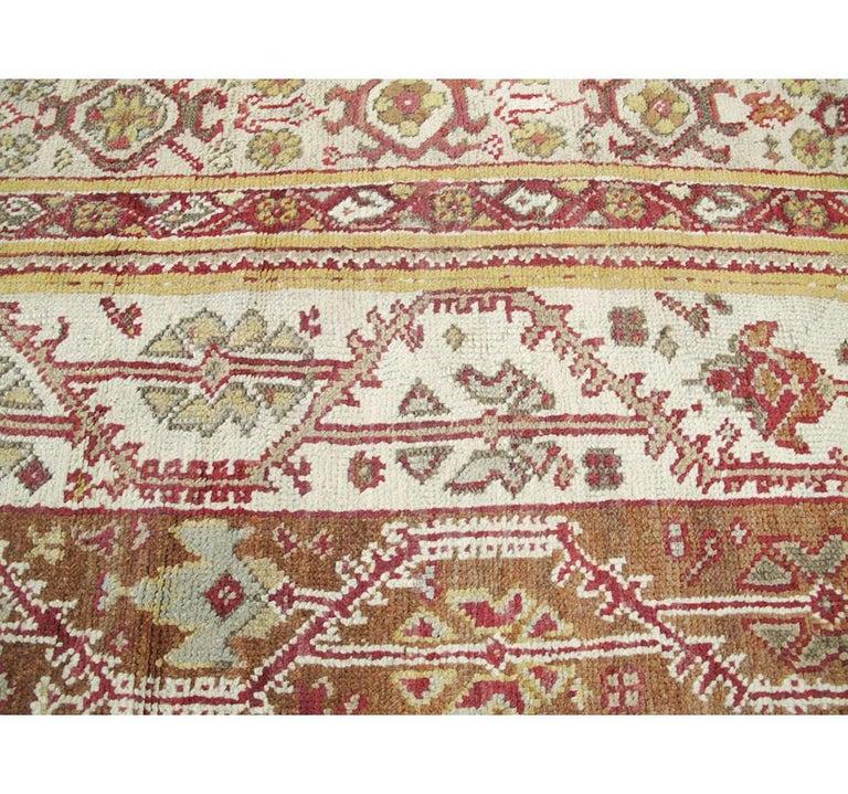 Antique Turkish Oushak Square Room Size Rug For Sale 3