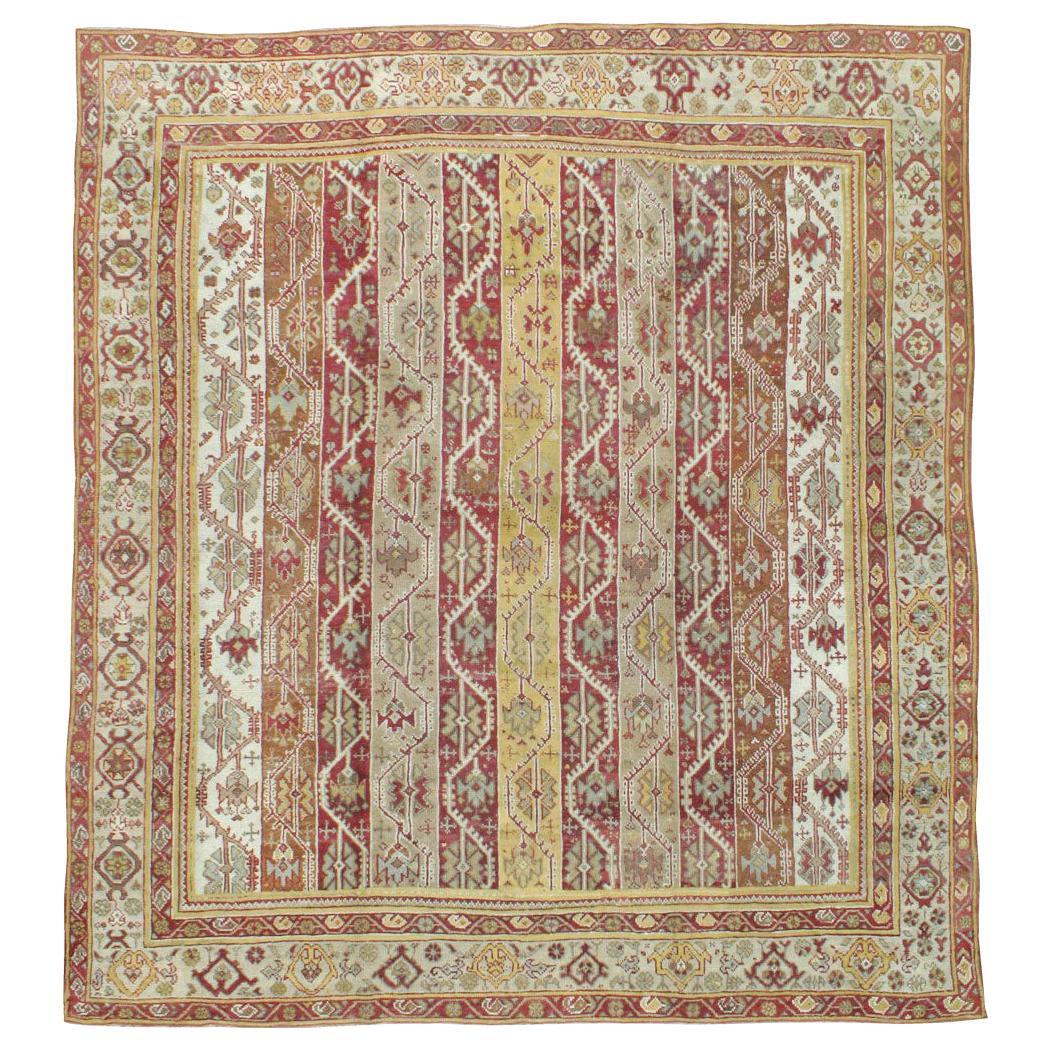 Antique Turkish Oushak Square Room Size Rug