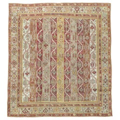 Antique Turkish Oushak Square Room Size Rug