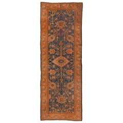 Antique Turkish Oushak Wide Runner, Teal Field, Pink & Gold Borders, circa 1900s